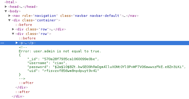 The html comment